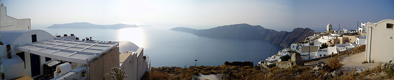 Santorini - Panorama över calderan