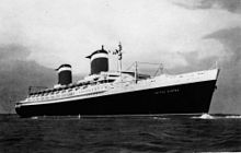 SS United States at sea, 1950s